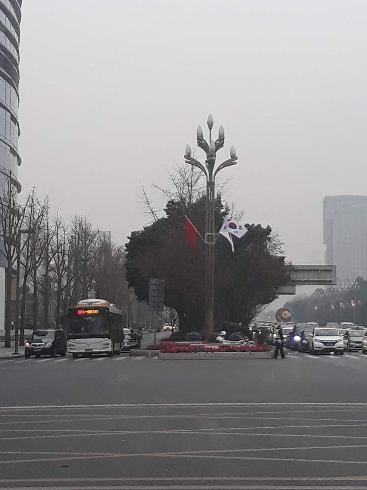 Buildings in Chengdu's Tianfu district. Korea Times photo by Do Je-hae