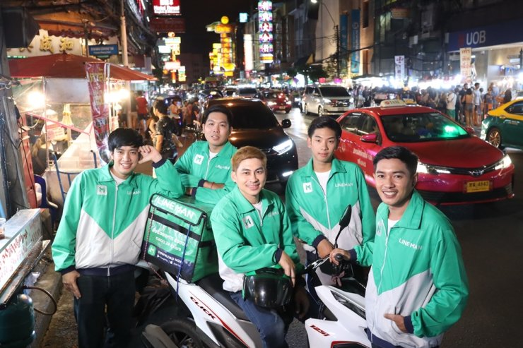 LINE MAN's delivery riders / Courtesy of LINE