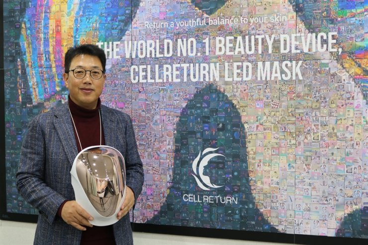 Cellreturn Chairman Kim Il-soo poses for a photo after an interview with The Korea Times at the company's headquarters in Incheon, Monday. / Courtesy of Cellreturn