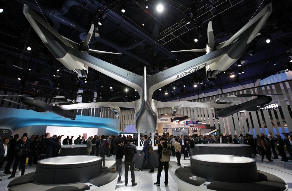 The Hyundai Mobis M.Vision S concept autonomous vehicle is show at the Hyundai pavilion during the CES tech show Wednesday, Jan. 8, 2020, in Las Vegas. AP