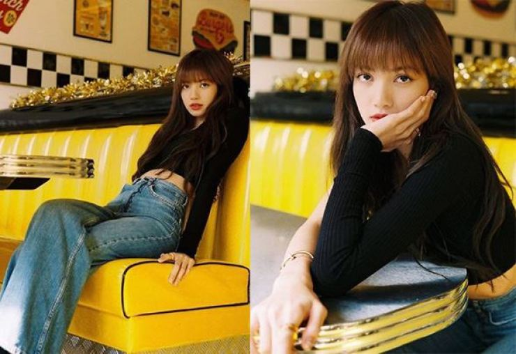 After Lisa shared photos of her posing on a yellow seat of the retro-themed cafe, the owner took to his Facebook and posted comments about selling everything she touched and sat on, which drew strong criticism from thousands of fans of the K-pop star. / Captured from Lisa's official Instagram account