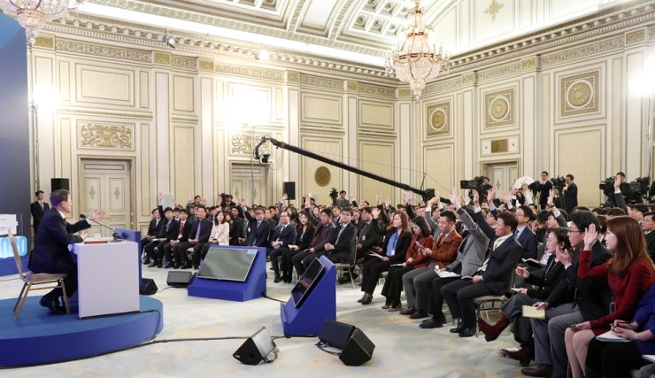 President Moon's 2020 New Year press conference / Yonhap