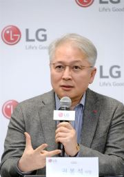 LG Electronics CEO Kwon Bong-seok speaks during a press conference at the Consumer Electronics Show in Las Vegas, Thursday (KST). / Courtesy of LG Electronics