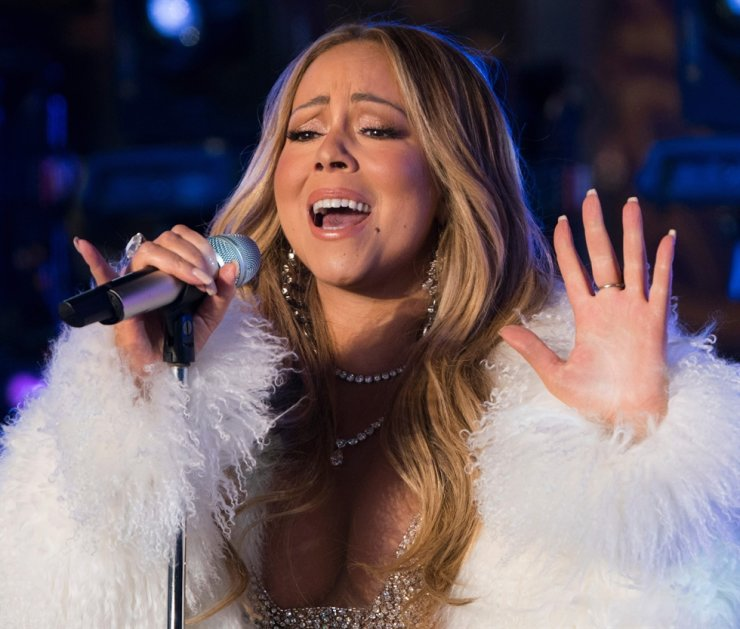 In this file photo taken on December 31, 2017, singer Mariah Carey performs during New Year's Eve celebrations in Times Square in New York. /AFP