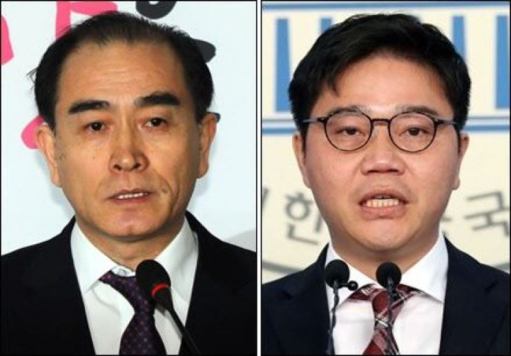 Thae Yong-ho, left, and Ji Seong-ho / Yonhap