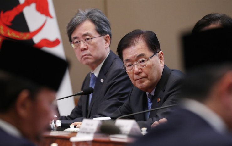 Cheong Wa Dae officials have recently visited the U.S. for consultations on North Korea and other bilateral issues. Yonhap