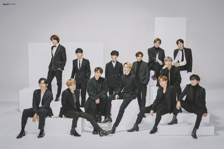 The photo shoot of Big Hit Entertainment artists BTS and TXT. The agency called off its corporate event, slated for Tuesday, amid the new coronavirus epidemic. Courtesy of Big Hit Entertainment