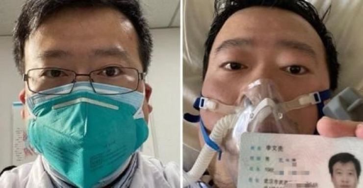 Dr. Li Wenliang. Captured from Weibo