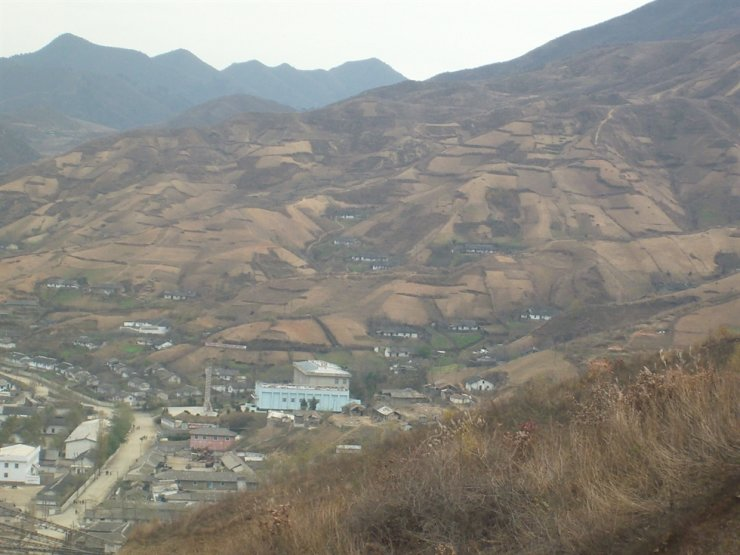 Part of Seliger's works in North Korea is rebuilding forests to fix deforestation, like this mountain in South Hamgyong Province that is almost stripped of trees. Courtesy of Hanns Seidel Foundation Korea Office