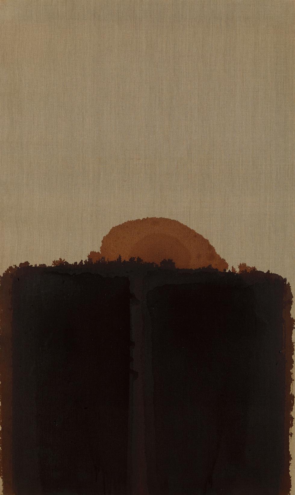 Yun Hyong-keun's 'Burnt Umber & Ultramarine' (1989) / Courtesy of PKM Gallery