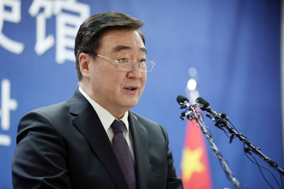 Chinese Ambassador Xing Haiming visits Cheong Wa Dae, Feb. 7 Yonhap