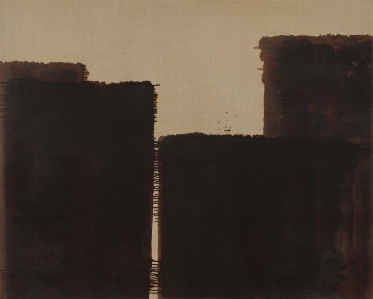 Yun Hyong-keun's 'Burnt Umber & Ultramarine' (1991) / Courtesy of PKM Gallery