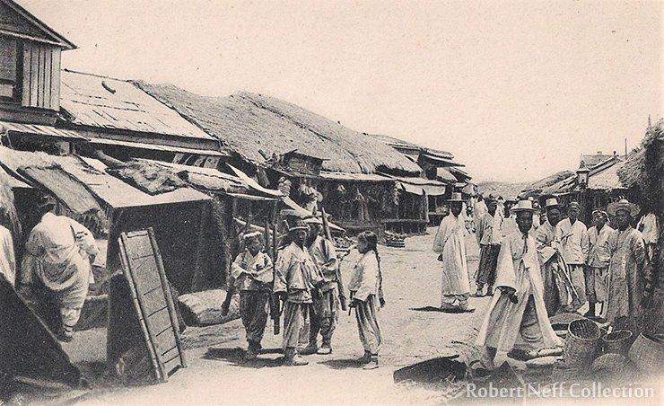 The Korean section of Wonsan, circa 1900s.  Robert Neff Collection