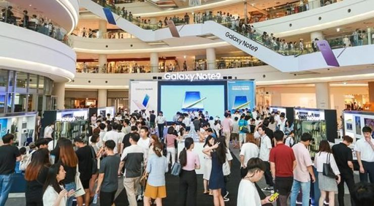 People shop at Times Square in Yeongdeungpo-gu, western Seoul, in this 2018 file photo. / Korea Times file