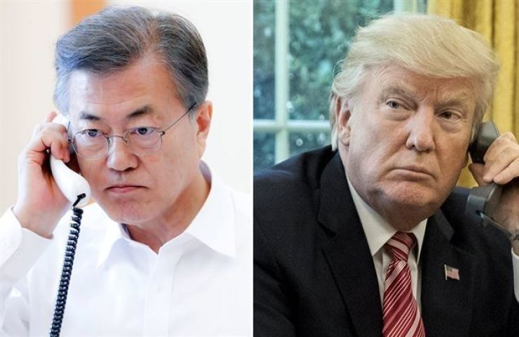 U.S. President Donald Trump expressed hope Tuesday, in a phone conversation with President Moon Jae-in, that South Korea could provide medical equipment support, according to Cheong Wa Dae. Yonhap
