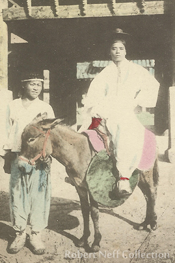 A nobleman on an outing in Seoul. Circa 1900s. Robert Neff Collection