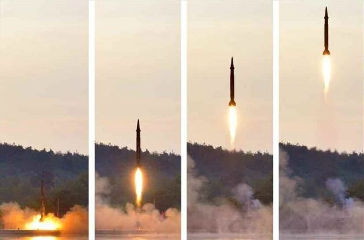North Korea fired a salvo of short-range projectiles believed to be anti-ship cruise missiles into the East Sea on Tuesday, South Korea's Joint Chiefs of Staff (JCS) said. Yonhap
