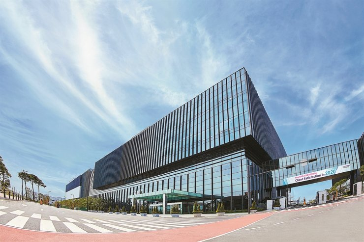 Samsung Biologics' plant 3 in Incheon is seen in this file photo. Courtesy of Samsung BioLogics