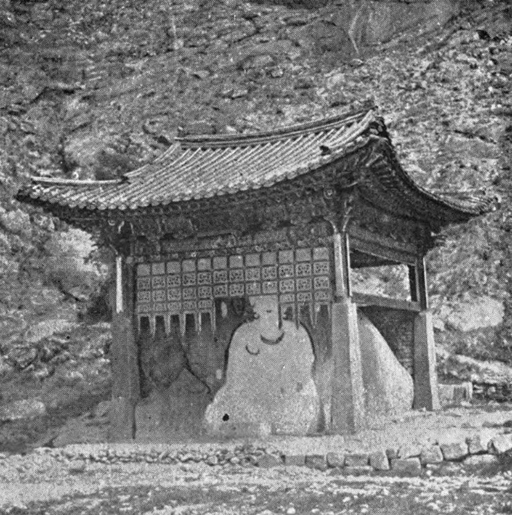 The White Buddha, photograph by George Gilmore in 1892