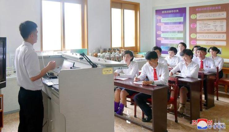 A North Korean school. Yonhap