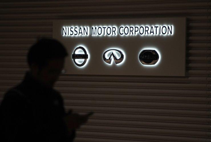 The logos of Nissan Motor Co. are seen at Nissan Motor Co. Global Headquarter in Yokohama, Japan, Nov. 19, 2018. /AP