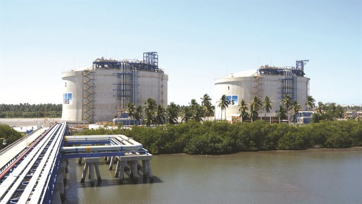 Seen above is the Manzanillo LNG Terminal in Mexico. Korea Gas Corp. (KOGAS) is operating the terminal with a 25 percent stake. Courtesy of KOGAS