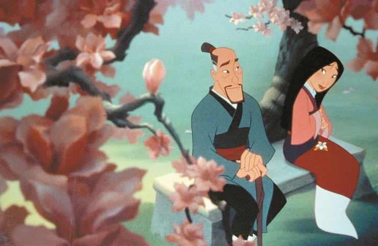 A scene from Walt Disney's 1998 animated action film Mulan. The box office-hit was based on the Chinese folk tale of the female warrior Hua Mulan. / Korea Times file