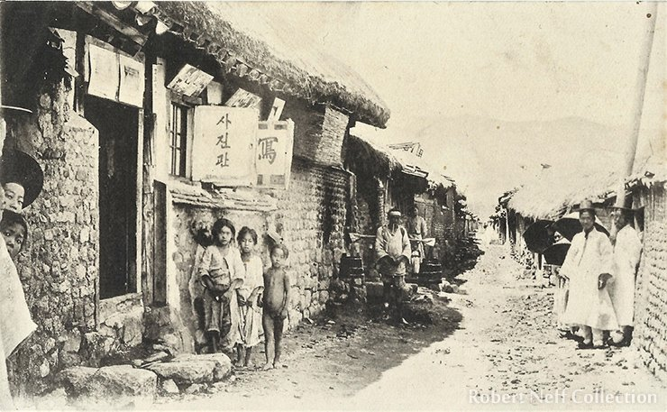 A photography studio in Seoul circa 1890s or early 1900s.