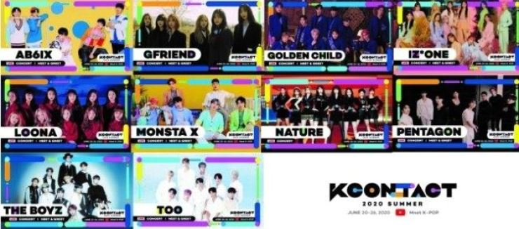 Under this year's banner theme 'KCON:TACT 2020 Summer,' KCON was streamed from June 20-26 through the channel M-net K-POP on YouTube and CJ's streaming platform Tving.
