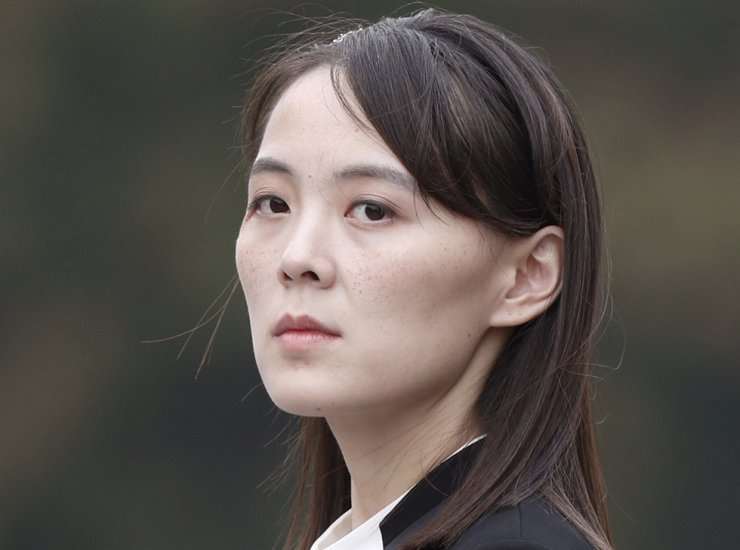 In this March 2, 2019, file photo, Kim Yo Jong, sister of North Korea's leader Kim Jong-un attends a wreath-laying ceremony at Ho Chi Minh Mausoleum in Hanoi, Vietnam. AP