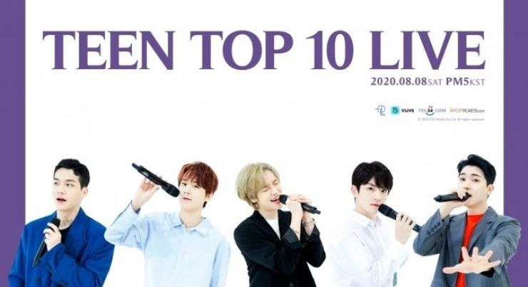 K-pop act Teen Top's concert will be streamed live. Courtesy of TOP Media