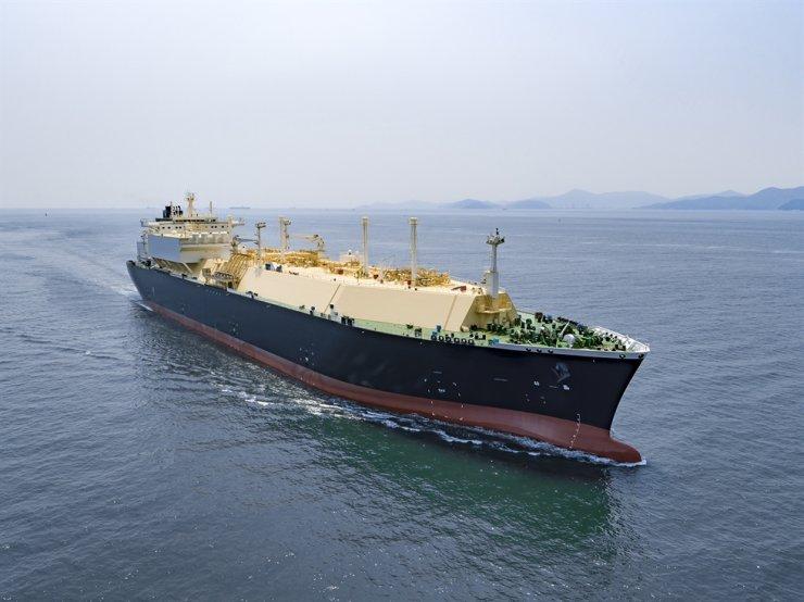 An LNG carrier built by Korea Shipbuilding & Offshore Engineering (KSOE) / Courtesy of KSOE