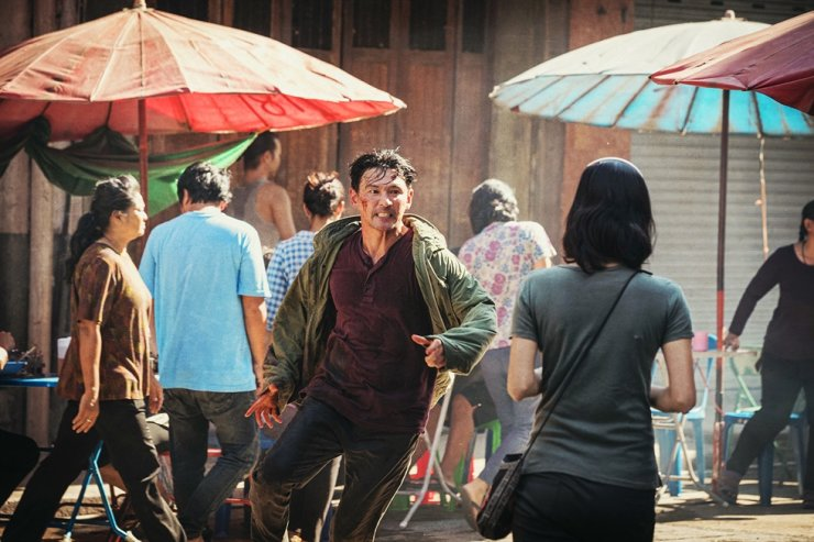 Hwang Jung-min in a scene from the film
