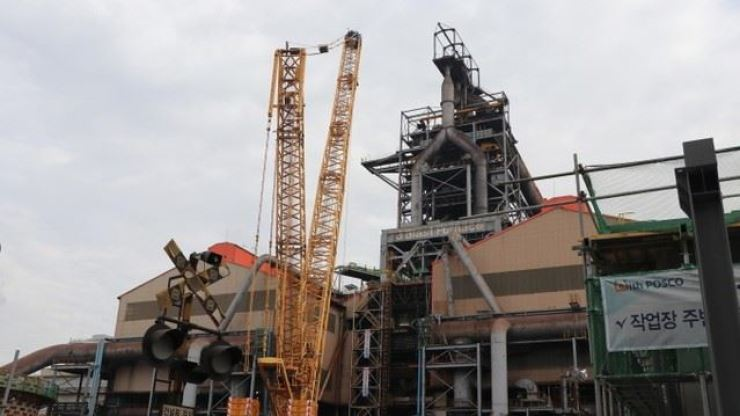 POSCO's third blast furnace in Gwangyang, South Jeolla Province. Courtesy of POSCO
