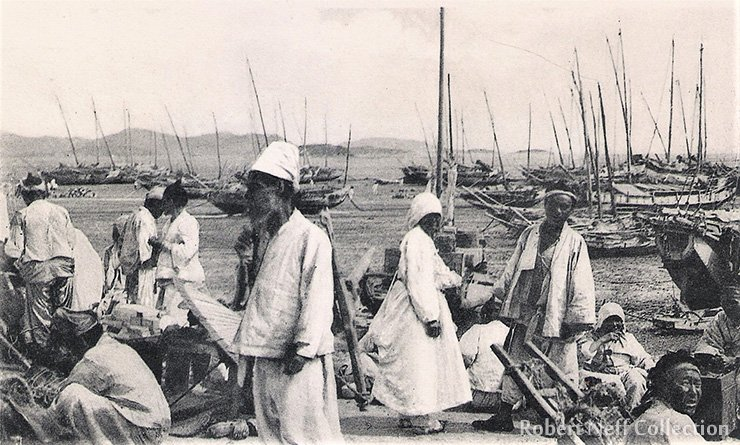 Jemulpo Harbor in the late 19th century. Robert Neff Collection