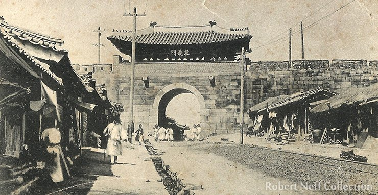 The West Gate, circa 1900. Robert Neff Collection