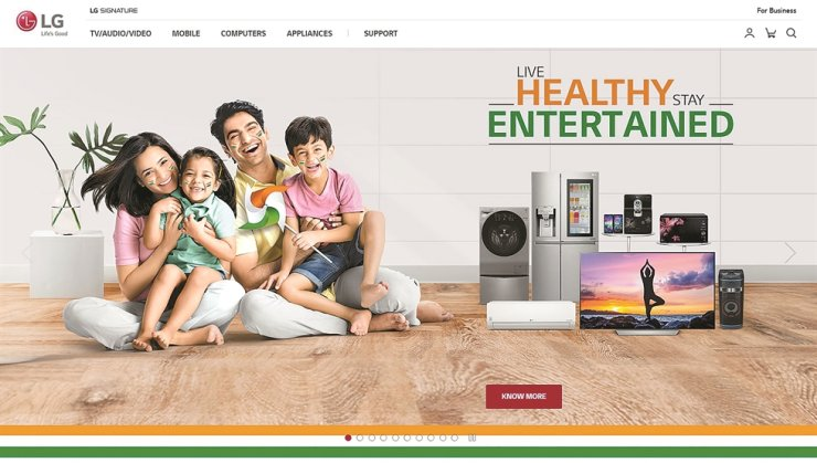 LG Electronics India's online page / Captured from LG Electronics India