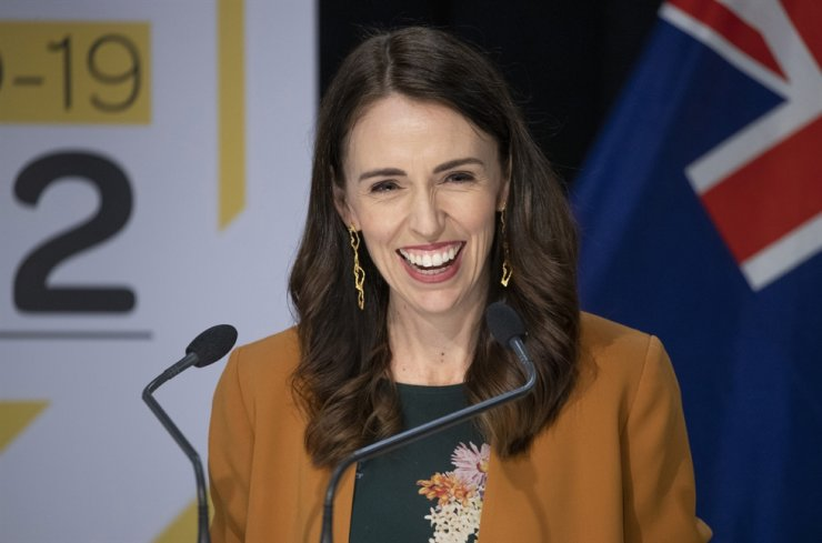 New Zealand Prime Minister Jacinda Ardern smiles as she addresses a press conference where she announced New Zealand will drop to Covid-19 alert level 1 at midnight in Wellington, New Zealand, Monday, June 8, 2020. The announcement was greeted with joy around the country and means the nation of five million people will be among the first to welcome throngs of fans back into sports stadiums, embrace crowded concerts and remove seating restrictions from flights. /AP