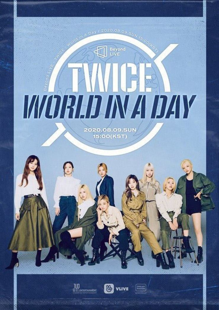 A poster for K-pop group TWICE's virtual concert