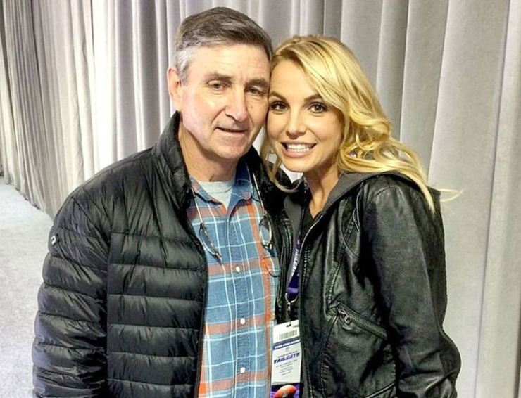 Britney Spears, right, is pictured with her dad, Jamie Spears. Captured from her Instagram