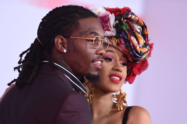 In this file photo taken on Oct. 9, 2018, U.S. rapper Cardi B and U.S. rapper Offset arrive at the 2018 American Music Awards in Los Angeles, Calif. After three tumultuous years of marriage, Cardi B filed for divorce Sept. 15 from her husband, according to court records. AFP