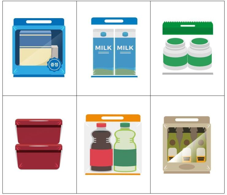 Several examples of plastic packaging which will be banned from January next year under the new regulations / Courtesy of Ministry of Environment