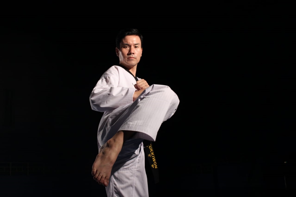 Athletes perform during the 2018 World Taekwondo Poomsae Championships in Taipei, Taiwan. Courtesy of Goyang City Government