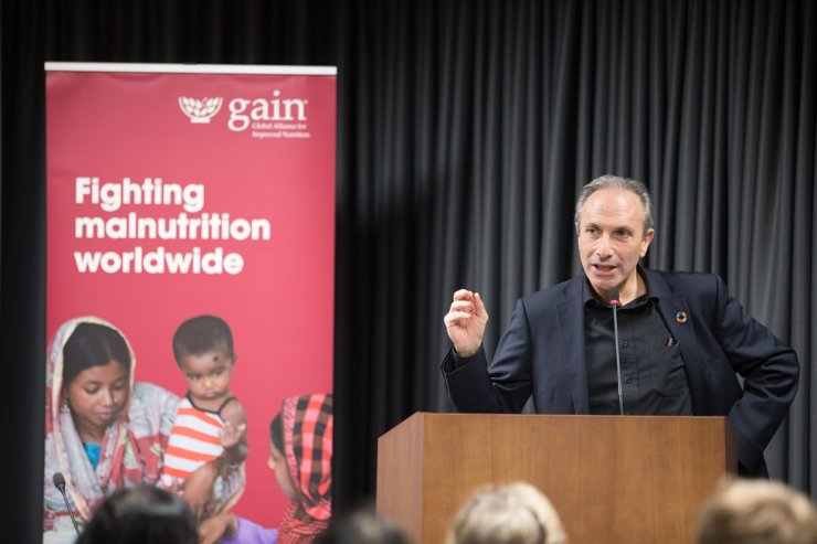Lawrence Haddad, executive director of Global Alliance for Improved Nutrition, warns that the world's food systems threaten people with malnutrition. Courtesy of Lawrence Haddad