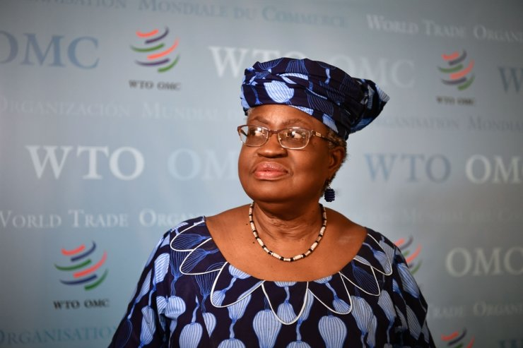 This file photo taken on July 15, 2020, shows Nigerian former Foreign and Finance Minister Ngozi Okonjo-Iweala in Geneva, following her hearing before World Trade Organization (WTO) 164 members' representatives, as part of the application process to head the WTO as Director General. Key WTO ambassadors tapped Nigeria's Ngozi Okonjo-Iweala on Oct. 26, 2020, as the best pick to lead the organisation, but she was opposed by Washington, who said it supported Korean Trade Minister Yoo Myung-hee instead. AFP