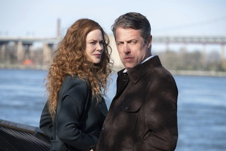 This image released by HBO shows Nicole Kidman, left, and Hugh Grant in a scene from 'The Undoing,' debuting on Sunday at 9 p.m. EDT on HBO. HBO via AP