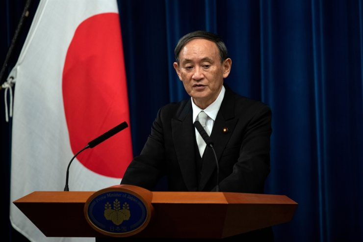 Yoshihide Suga speaks during a news conference following his confirmation as Prime Minister of Japan in Tokyo, Sept. 16. REUTERS-Yonhap