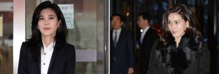 Lee Boo-jin, left, CEO of Hotel Shilla, and Lee Seo-hyun, chairwoman of Samsung Welfare Foundation
