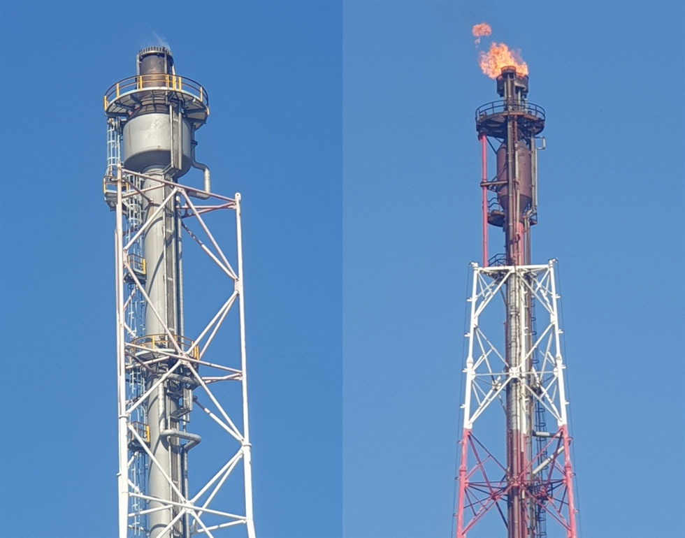 A video imaging spectrum radiometer (VISR)-based infrared ray atop a vehicle can remotely scan flare from a stack at petrochemical factories or oil refineries and monitor how completely the flare is burnt. Courtesy of National Institute of Environmental Research