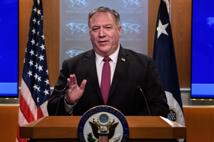 U.S. Secretary of State Mike Pompeo speaks at a news conference at the State Department in Washington, DC, U.S. Oct. 21, 2020. Reuters